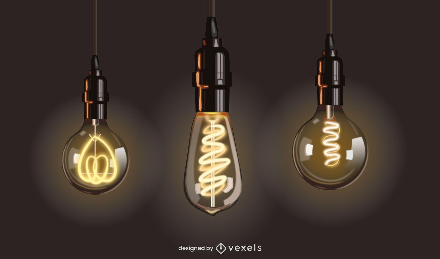 Incandescent Light Bulb Design Set