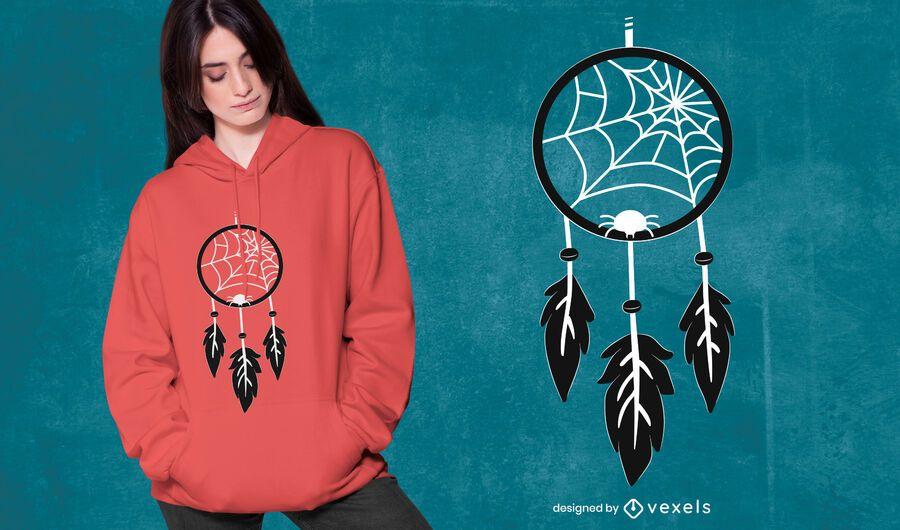 Diseño de camiseta Spiderweb Dreamcatcher