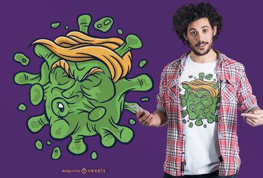 Diseño de camiseta de covid trump
