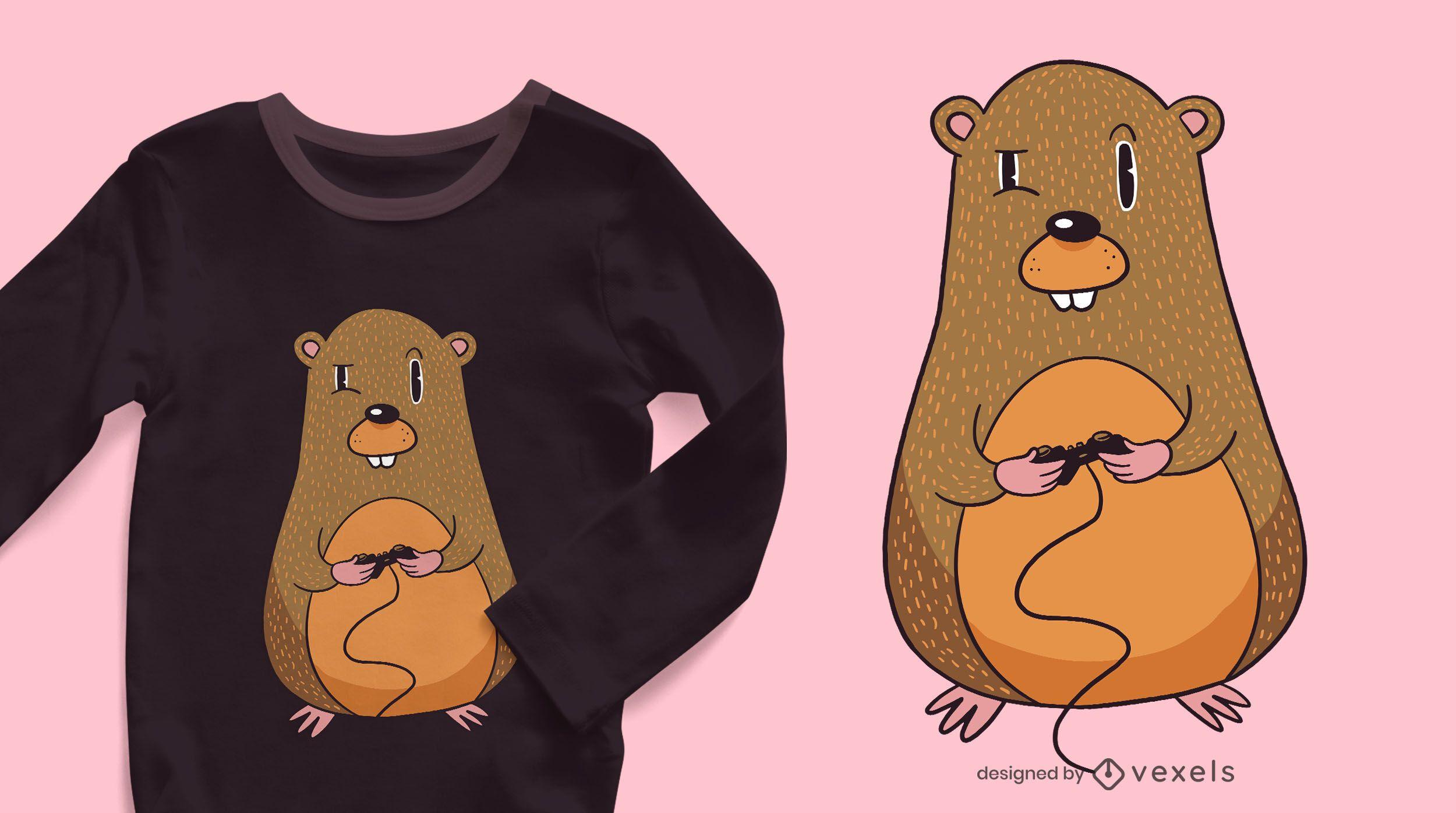 Design de t-shirt de jogador Gopher