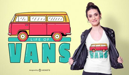 Life of vans t-shirt design