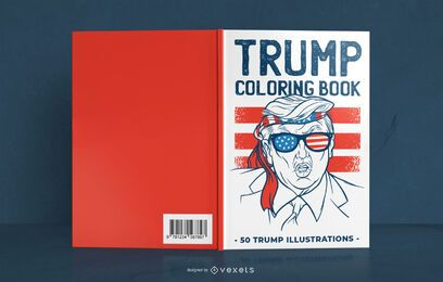 Design da capa do livro de colorir Trump