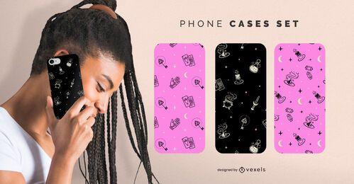 Halloween magic phone cases set
