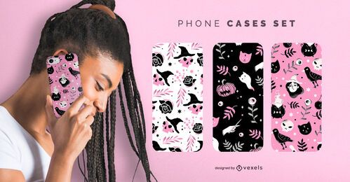 Cute Halloween phone cases set