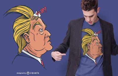 Design de t-shirt Trump hair flip
