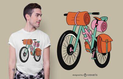 Design de t-shirt bikepacking