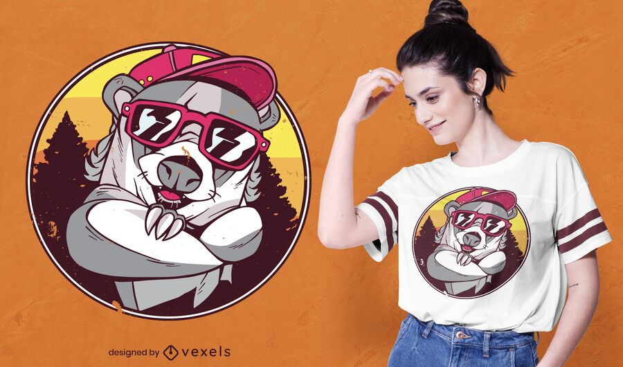 Badger sunglasses t-shirt design