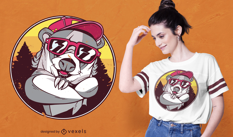 Badger sunglasses t-shirt design
