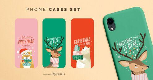 Weihnachtstiere Telefonhüllen eingestellt