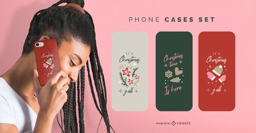 Christmas phone cases set