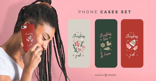 Christmas phone cases set