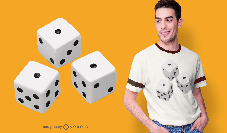 Realistic dice t-shirt design