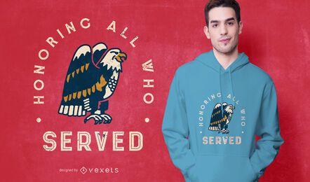 Diseño de camiseta del águila del día de los veteranos