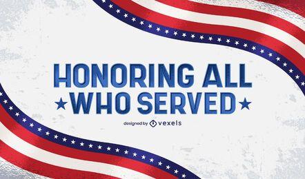 Honrando todos os que serviram de letras