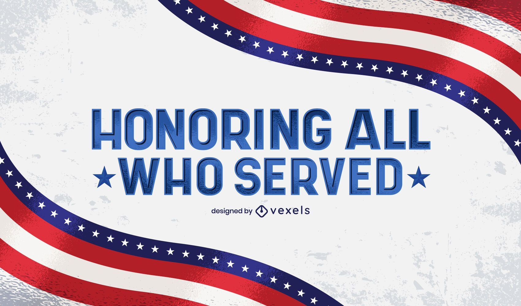 Honoring all who served lettering