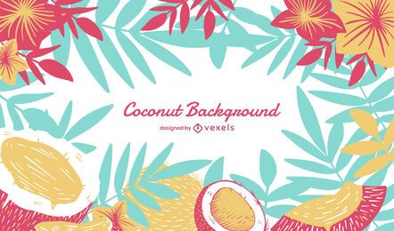 Desenho de fundo de coco