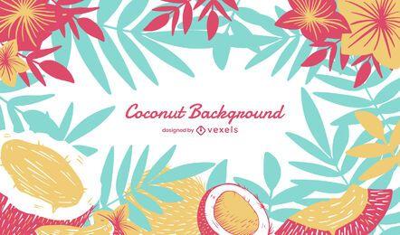 Diseño de fondo de coco
