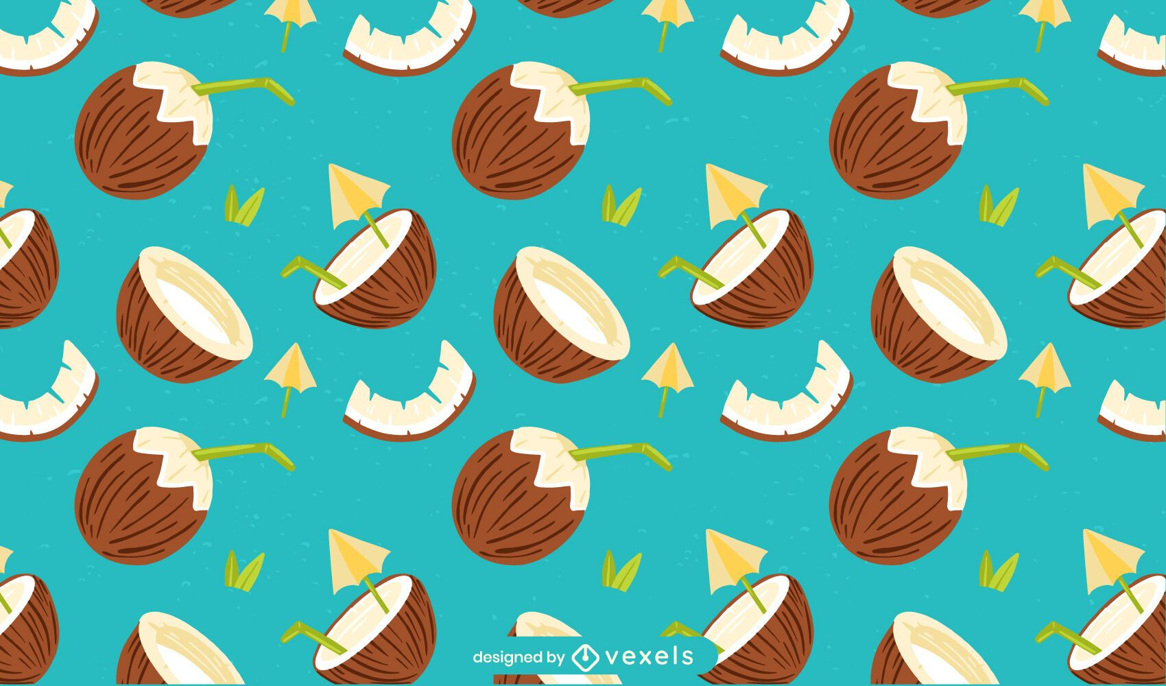Coconut flat pattern design