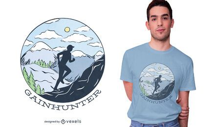 Gainhunter runner t-shirt design