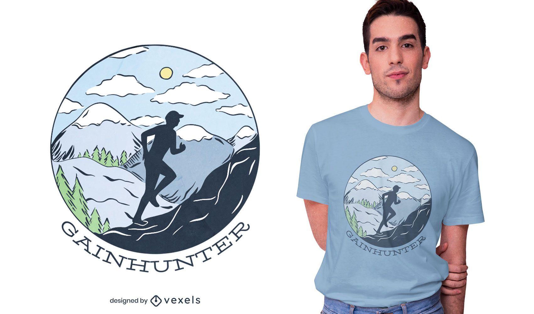 Gainhunter runner t-shirt design