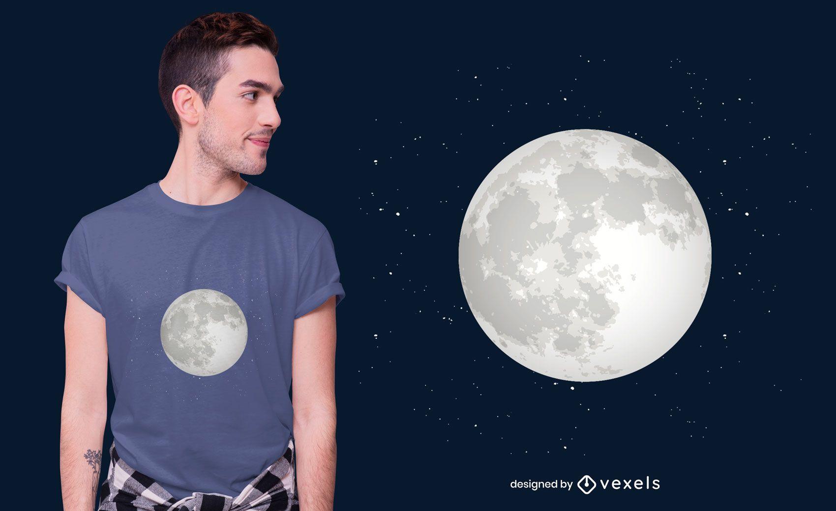 Design de camisetas para lua cheia