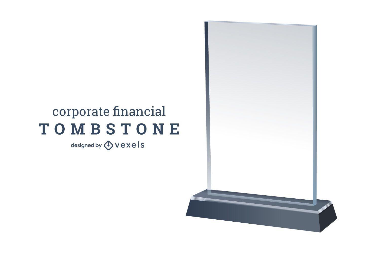 Corporate Financial Tombstone Design