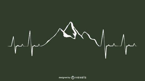 Diseño de línea Mountain Heartbeat