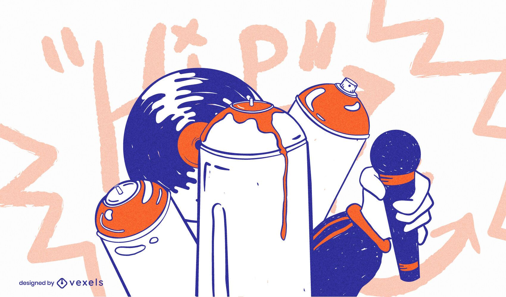 Hip Hop Elements Illustration