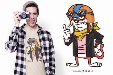 Biker Katze T-Shirt Design