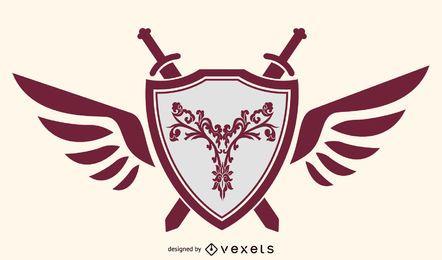 Weinlese-Emblem