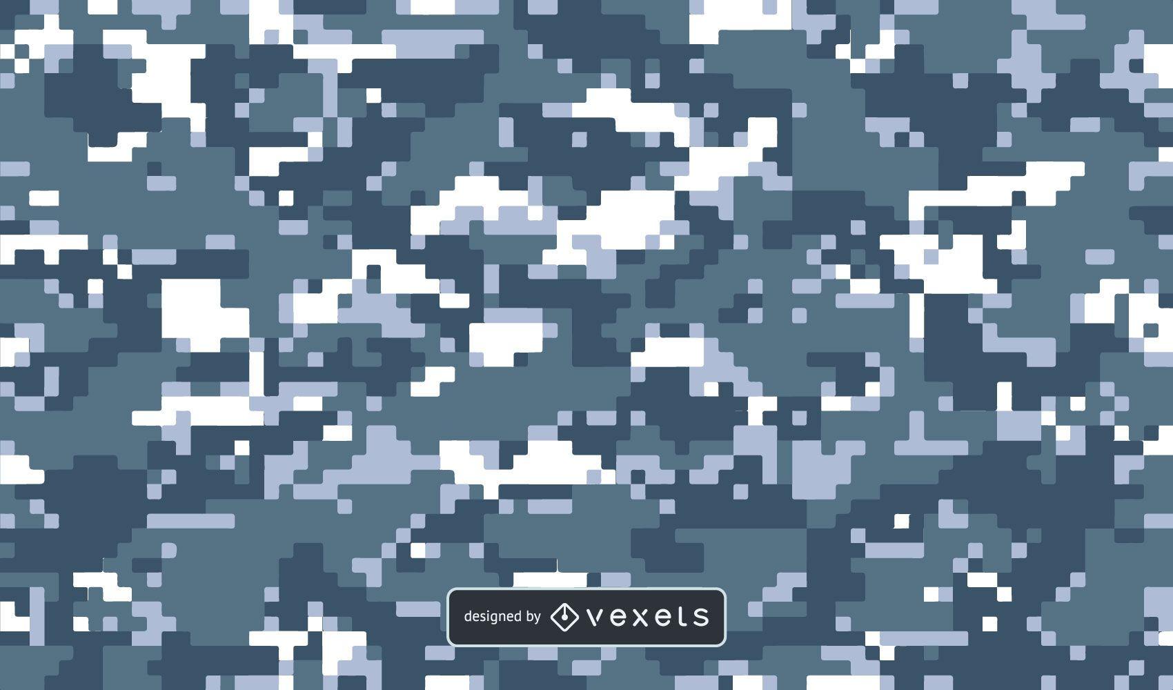Digital Blue Camo Background