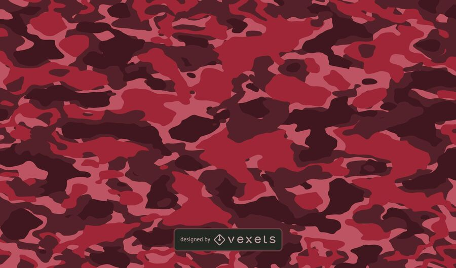 Red Camo Texture Background