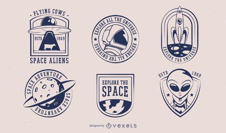 Space Badge Design Pack