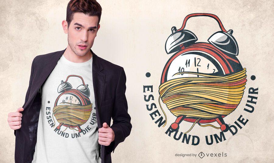 Spaghetti Clock German T-shirt Design