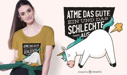 Unicórnio Farts Design de camisetas alemãs