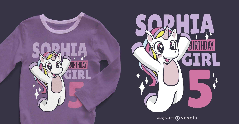 Birthday Unicorn Editable T-shirt Design