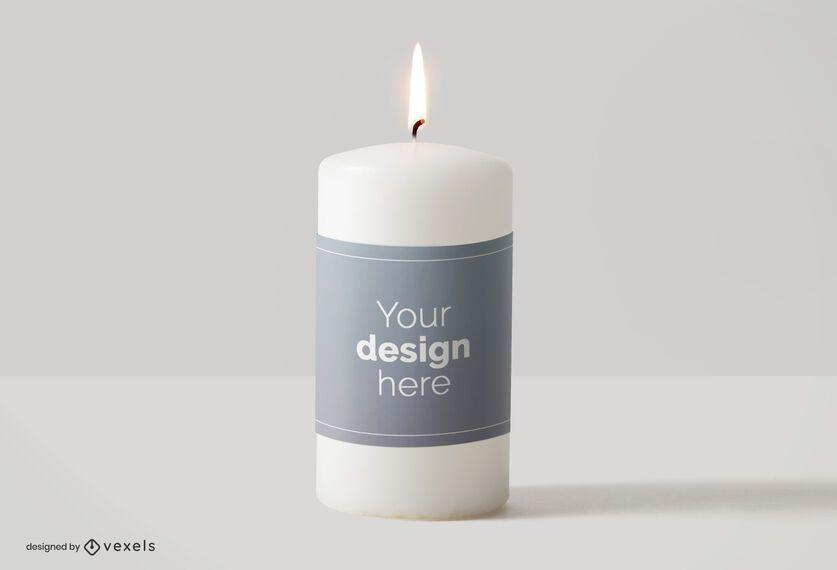 Candle label mockup design