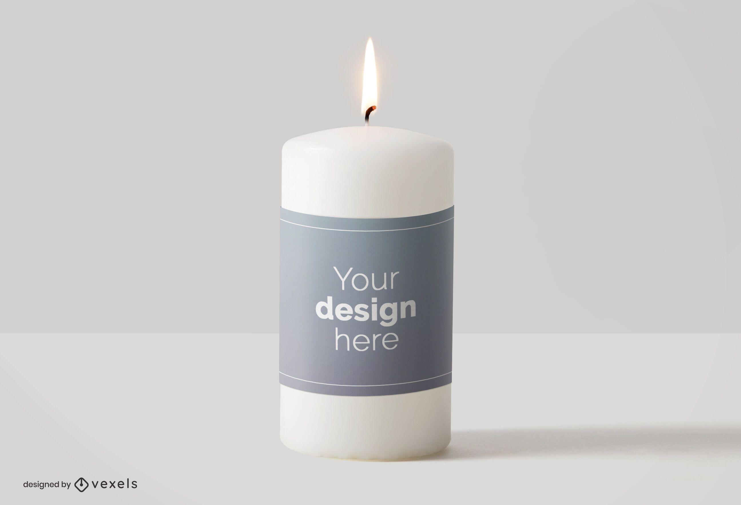 Diseño de maqueta de etiqueta de vela