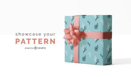 Gift paper pattern mockup design