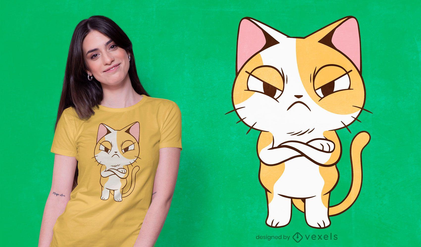 Angry kitten t-shirt design