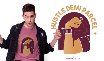 Diseño de camiseta Hustle quote