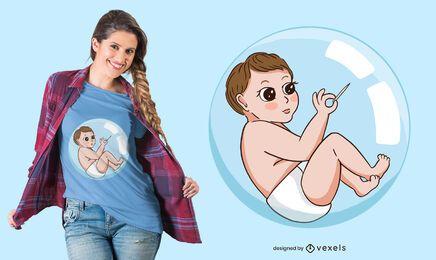 Design de t-shirt bolha de bebê
