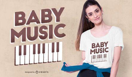 Design de camisetas musicais para bebês