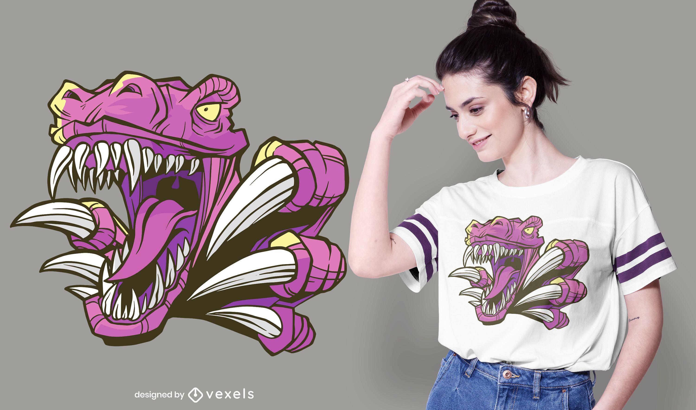 Design de camiseta rosa Raptor