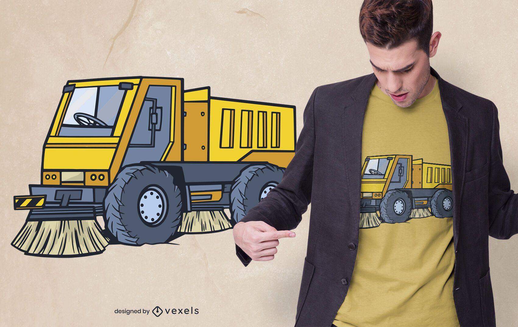 Design de camiseta do Street Sweeper Truck