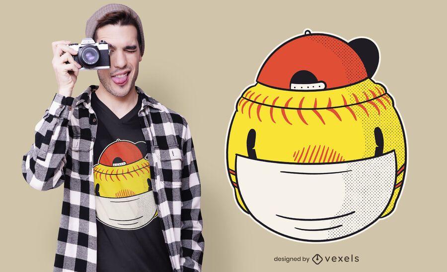 Softball Face Mask T-shirt Design