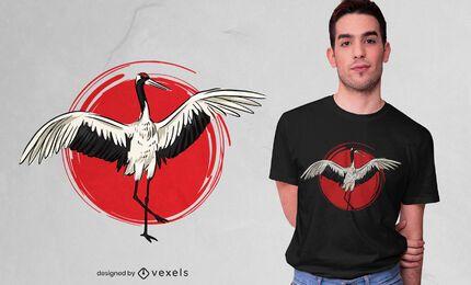 Design de camisetas Tai Chi Crane