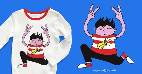 Diseño de camiseta Rocker Kid