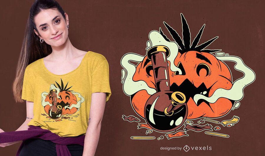 Diseño de camiseta de calabaza al horno