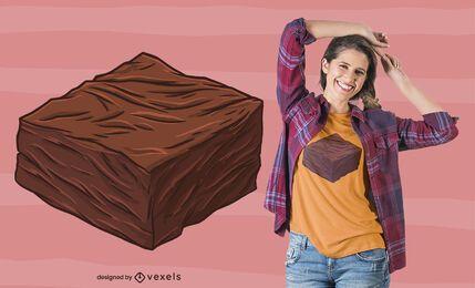Diseño de camiseta Brownie Piece